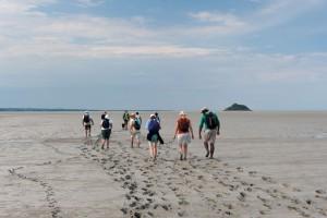 Petit groupe dans la baie Saint-Michel
